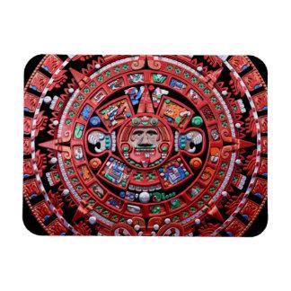 Calendario maya de Sunstone del metal Imán De Vinilo
