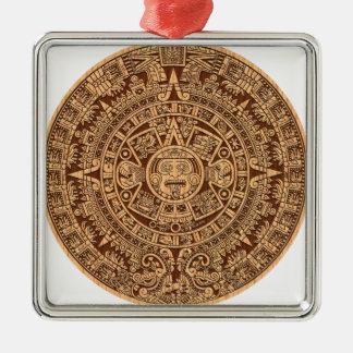 Calendario maya ornamentos de navidad
