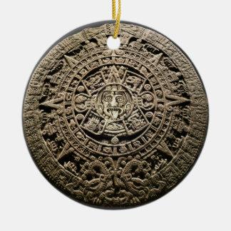 Calendario maya adornos de navidad
