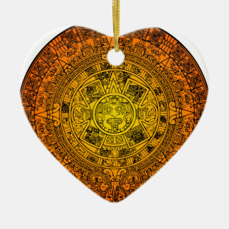 Calendario maya ornamento para reyes magos