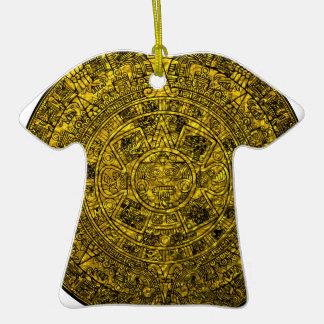 Calendario maya ornamento para arbol de navidad