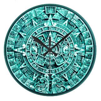 Calendario maya (dial de la hora de la media hora) reloj redondo grande
