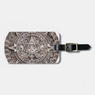 Calendario maya etiqueta para equipaje