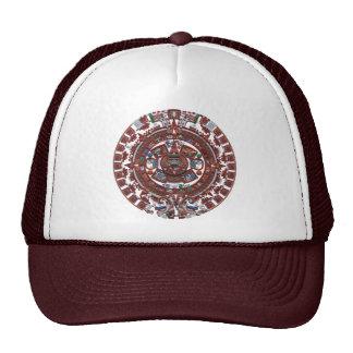 Calendario maya gorros bordados