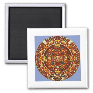 calendario maya imán cuadrado
