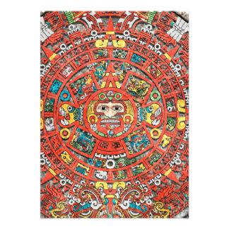Calendario maya invitación personalizada