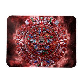 Calendario maya llameante imanes de vinilo