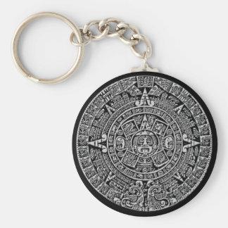 Calendario maya llavero redondo tipo pin