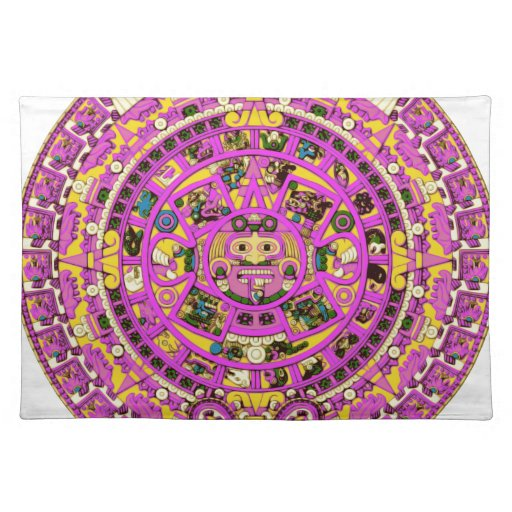 calendario maya manteles individuales