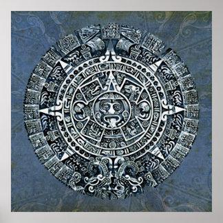 Calendario maya mayas Kalender Poster