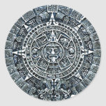 Calendario/maya mayas Kalender Pegatina Redonda