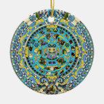 calendario maya ornamento de navidad