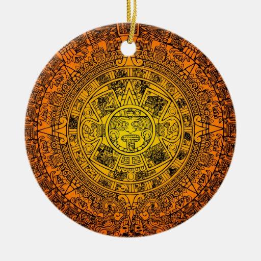 Calendario maya ornaments para arbol de navidad