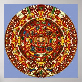 calendario maya poster