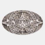 Calendario maya pegatina ovalada
