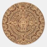 Calendario maya pegatinas redondas
