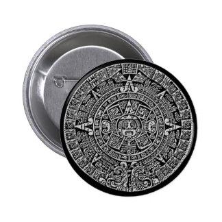 Calendario maya pin redondo de 2 pulgadas