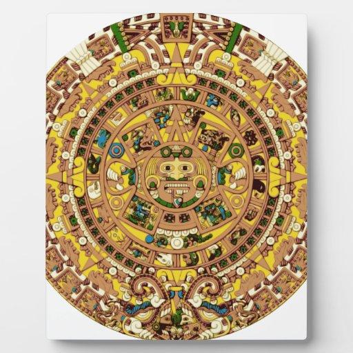 calendario maya placas de madera