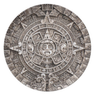 Calendario maya plato