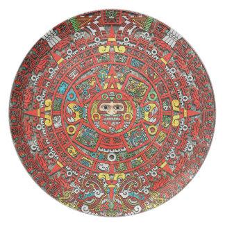 Calendario maya plato de cena