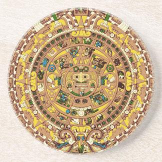 calendario maya posavasos diseño
