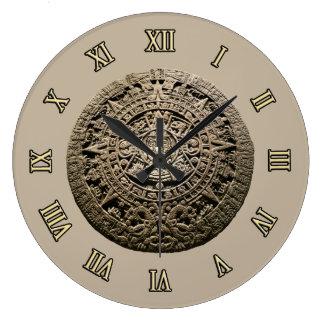 Calendario maya reloj redondo grande