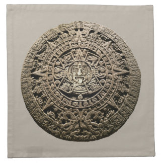 Calendario maya servilleta de papel