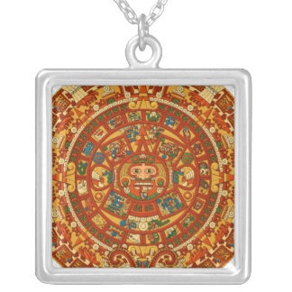 'Calendario maya Stone Colgante Cuadrado