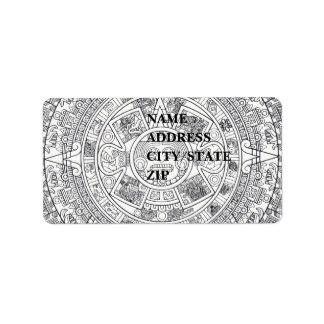 'Calendario maya Stone Etiquetas De Dirección