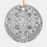 'Calendario maya Stone Ornamento De Navidad