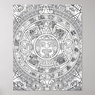 'Calendario maya Stone Póster