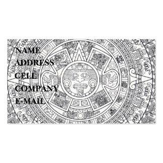 'Calendario maya Stone Plantillas De Tarjetas De Visita