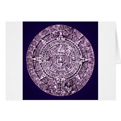 calendario maya tarjeta de felicitación