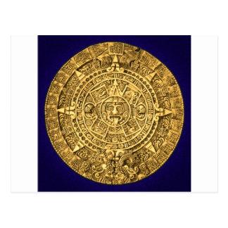 calendario maya tarjeta postal