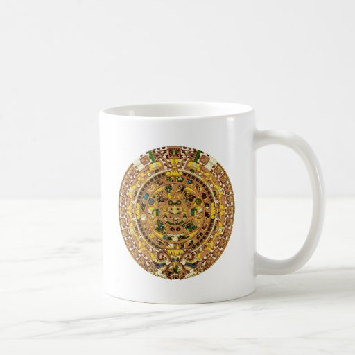 calendario maya taza básica blanca