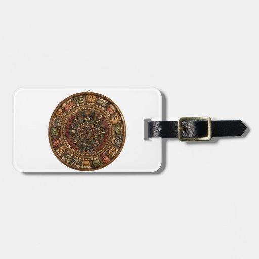 Calendario maya y azteca (productos múltiples) etiquetas maletas