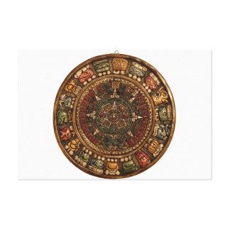 Calendario maya y azteca (productos múltiples) lienzo envuelto para galerias