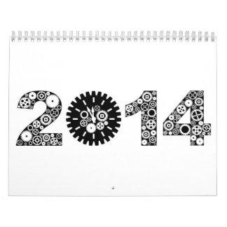 Calendario mecánico del reloj del engranaje 2014