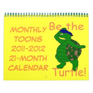 Calendario mensual 21-Month de Toons 2011-2012