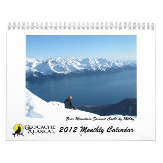 Calendario mensual de GeocacheAlaska 2012