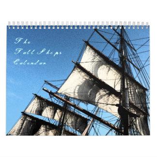 Calendario mensual de las naves altas
