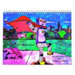 Calendario mensual de los robots 2015 cómicos del