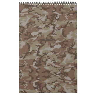 Calendario - militar del camuflaje del desierto