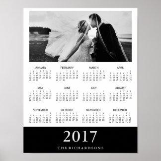 Calendario mínimo moderno 2017 de la foto de la póster