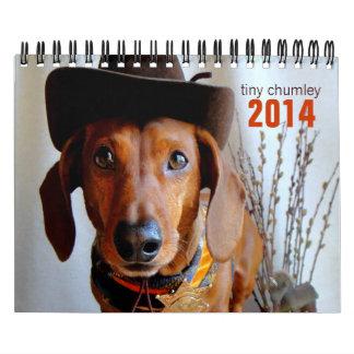 Calendario minúsculo del Dachshund de 2014 Chumley