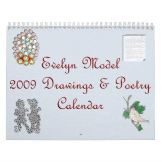 Calendario modelo 2009 de Evelyn