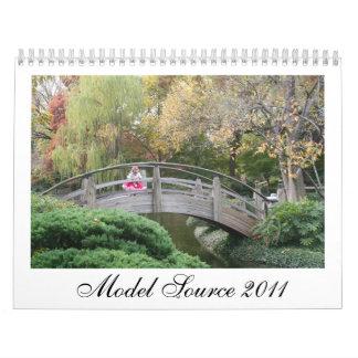 Calendario modelo de la fuente 2011