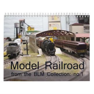 Calendario modelo del ferrocarril