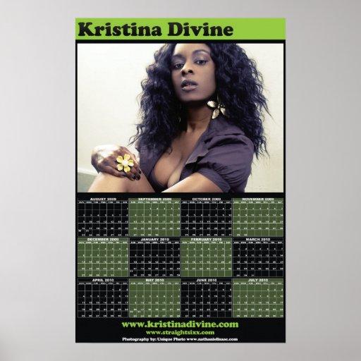 Calendario modelo divino de Cristina Poster