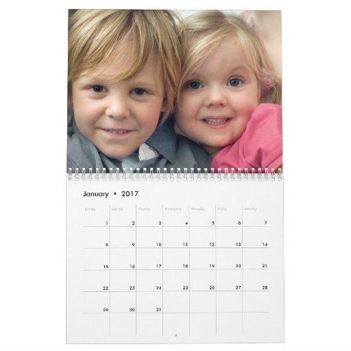 Calendario moderno de la foto 2012 de la cartera